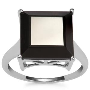 Black Spinel Ring in Sterling Silver 9cts