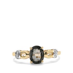 Burmese Multi-Colour Spinel & Diamond 9K Gold Ring ATGW 1.37cts