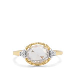 2ct Rose Cut Ratanakiri Zircon 9K Gold Ring