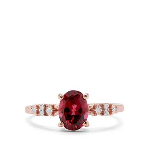 Morogoro Garnet & Diamond 9K Rose Gold Ring ATGW 1.64cts