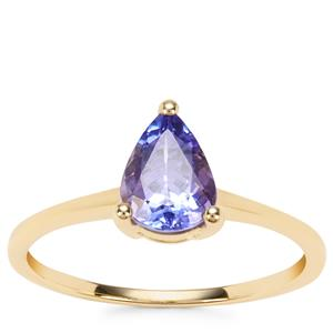 AA Tanzanite Ring in 9K Gold 0.92ct