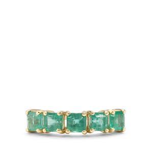 1.68ct Zambian Emerald 9K Gold Ring