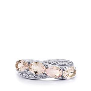 1.62ct Zambezia Morganite Sterling Silver Ring