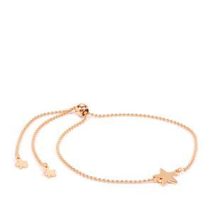 """10"""" Rose Midas Altro Star Slider Bracelet 1.94g"""
