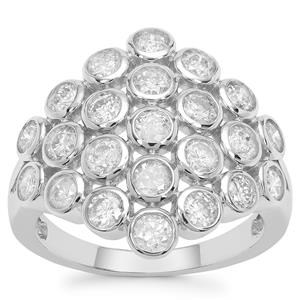 Diamond Ring in 9K White Gold 1.97cts