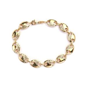 "7"" 9K Gold Altro Puffed Mariner Bracelet 5.50g"
