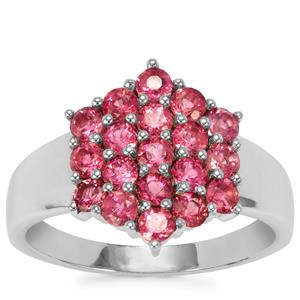 Cruzeiro Rubellite Ring in Sterling Silver 1.16cts