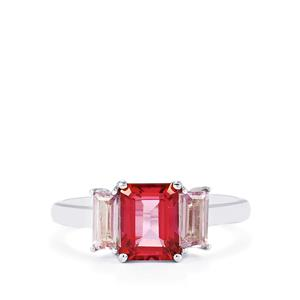 Mystic Pink Topaz & Rose De France Amethyst Sterling Silver Ring ATGW 2.50cts