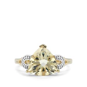 Serenite & Diamond 10K Gold Ring ATGW 2.86cts