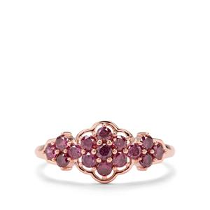 1/2ct Purple Diamond 9K Rose Gold Tomas Rae Ring