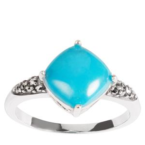 Turquoise Jewels of Valais Ring with Natural Marcasite in Sterling Silver 1.60cts