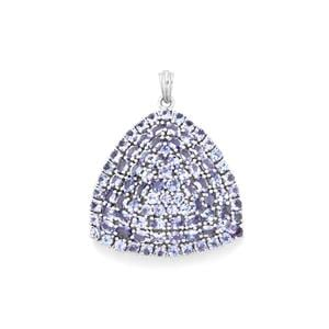 AA Tanzanite Pendant in Sterling Silver 12.47cts