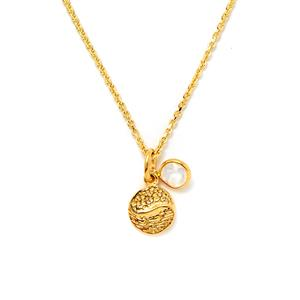 0.49ct Rainbow Moonstone Gold Vermeil Pendant Necklace