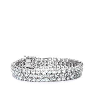 18.75ct Espirito Santo Aquamarine Sterling Silver Bracelet