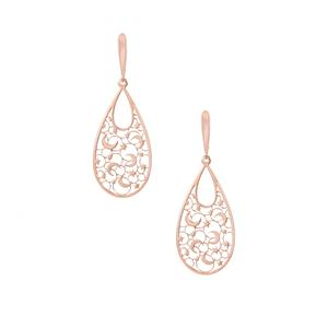 Rose Gold Tone Sterling Silver Bayeux Earrings 3.06g