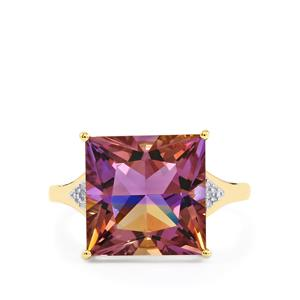 Anahi Ametrine Ring with Diamond in 10k Gold 6.10cts