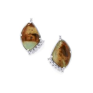 Aquaprase™ Earrings with White Topaz in Sterling Silver 15.15cts