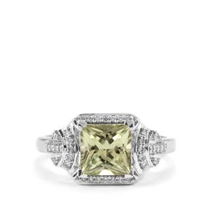 Csarite® Ring with Diamond in 18k White Gold 2.16cts