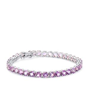 Moroccan Amethyst Bracelet  in Platinum Plated Sterling Silver 16.31cts