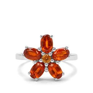Loliondo Orange Kyanite & Diamantina Citrine Sterling Silver Ring ATGW 3.53cts