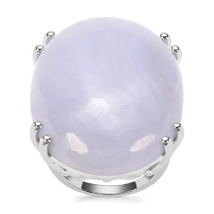 Blue Lace Agate Ring in Sterling Silver 44.66cts