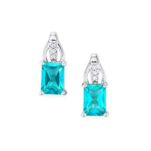 Batalha Topaz Earrings with White Zircon in Sterling Silver 2.37cts