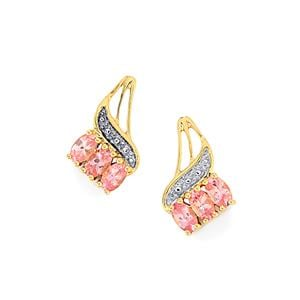 1.51ct Mozambique Pink Spinel 10K Gold Earrings