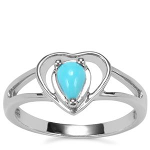 Sleeping Beauty Turquoise Ring in Sterling Silver 0.35ct