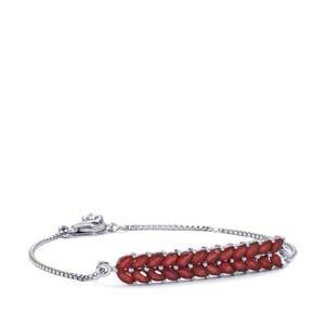 5.16ct Malagasy Ruby Sterling Silver Bracelet (F)