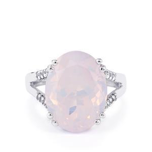 Rio Grande Lavender Quartz Ring with White Topaz in Sterling Silver 8.88cts