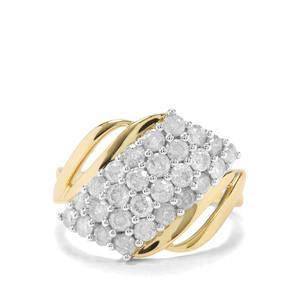 1.50ct Diamond 9K Gold Tomas Rae Ring