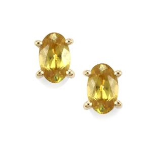 Morafeno Sphene Earrings in 10k Gold 0.51ct