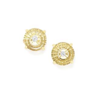 Lehrer TorusRing Champagne Quartz & Diamond 10K Gold Earrings ATGW 3.12cts