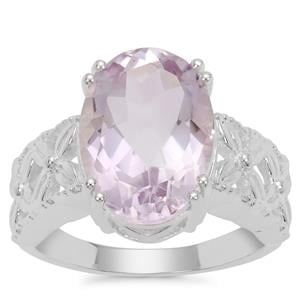 Rose De France Amethyst Ring in Sterling Silver 6cts