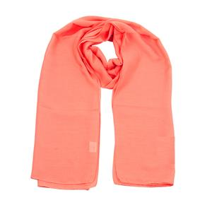 100% Recycled Polyester Solid Dyed Coral Scarf