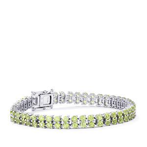 Peridot Bracelet in Sterling Silver 12.85cts