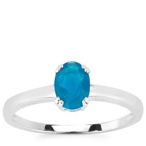 Ethiopian Paraiba Blue Opal Ring in Sterling Silver 0.50cts