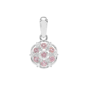 Mozambique Pink Spinel Pendant with White Zircon in Sterling Silver 0.53ct
