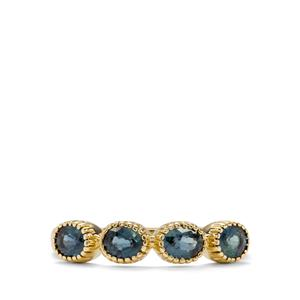 1.08ct Natural Nigerian Blue Sapphire 9K Gold Ring