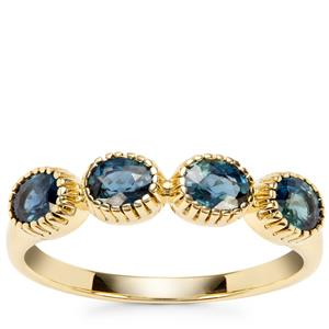 Natural Nigerian Blue Sapphire Ring in 9K Gold 1.08cts