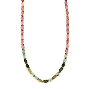 Rainbow Tourmaline Necklace in Sterling Silver 29.47cts