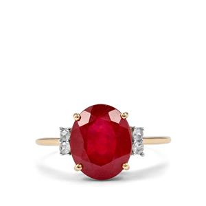 Malagasy Ruby Ring with Ceylon Sapphire in 10K Gold 5.43cts (F)