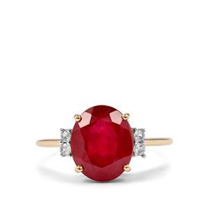 Malagasy Ruby & Ceylon Sapphire 10K Gold Ring ATGW 5.43cts (F)