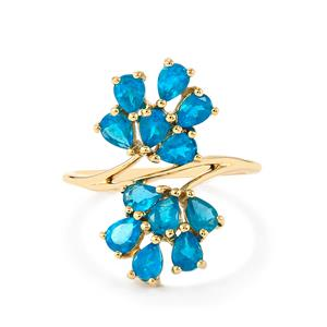 Neon Apatite Ring in 10k Gold 1.75cts
