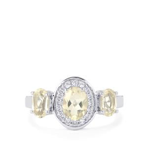 Serenite Ring with White Zircon in Sterling Silver 1.76cts