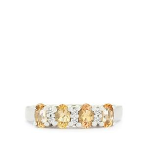 Ouro Preto Imperial Topaz & White Topaz Sterling Silver Ring ATGW 1.21cts
