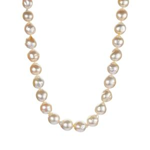 South Sea Cultured Pearl Sterling Silver Neckalce