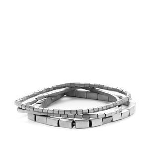 Silver Haematite Elastic Bracelet 105cts