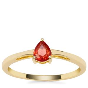 Songea Ruby Ring in 9K Gold 0.38ct
