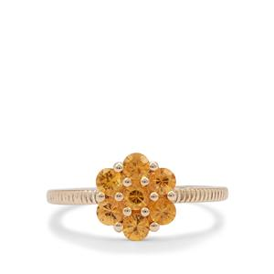 Mandarin Garnet Ring in 9K Gold 1.05cts